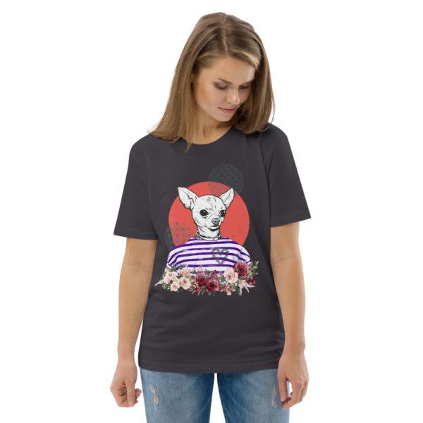 unisex organic cotton t shirt anthracite front 2 614dd5d11bbf8