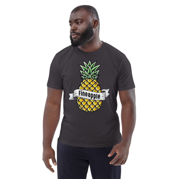 unisex organic cotton t shirt anthracite front 6144a50248d77