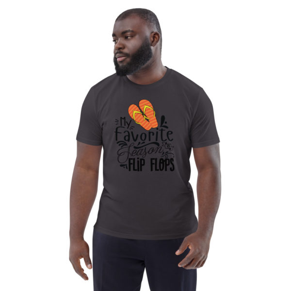 unisex organic cotton t shirt anthracite front 6144a898952f2