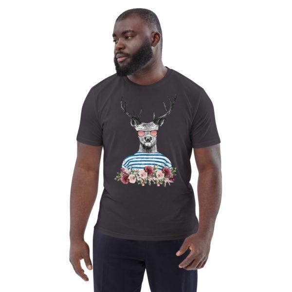 unisex organic cotton t shirt anthracite front 614dd6989919b