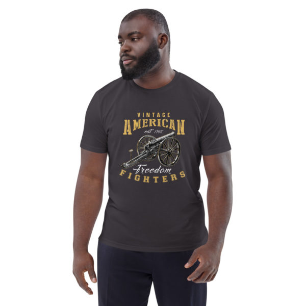 unisex organic cotton t shirt anthracite front 614dd8ba61e13