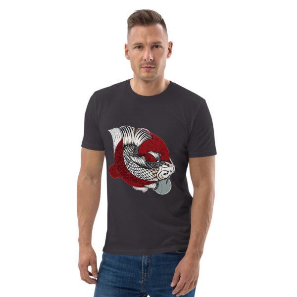 unisex organic cotton t shirt anthracite front 614dd95d25fa6