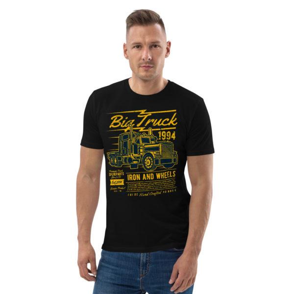 unisex organic cotton t shirt black front 606491d55a28d