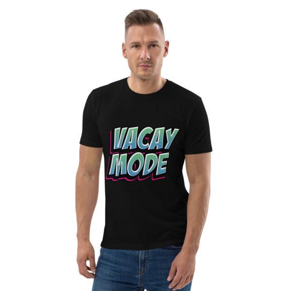 unisex organic cotton t shirt black front 6144a4bd72011