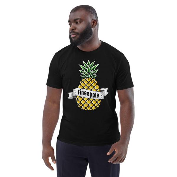 unisex organic cotton t shirt black front 6144a50248236
