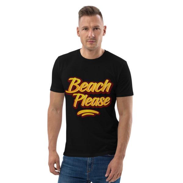 unisex organic cotton t shirt black front 614dd02069814