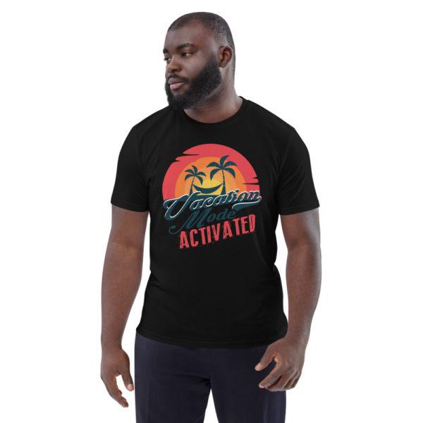 unisex organic cotton t shirt black front 614dd177807b1