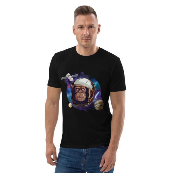 unisex organic cotton t shirt black front 614dd51369c19