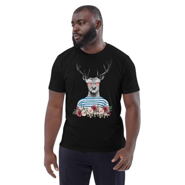 unisex organic cotton t shirt black front 614dd698989d9