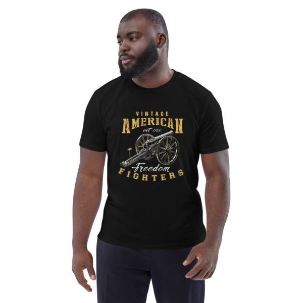 unisex organic cotton t shirt black front 614dd8ba6225c