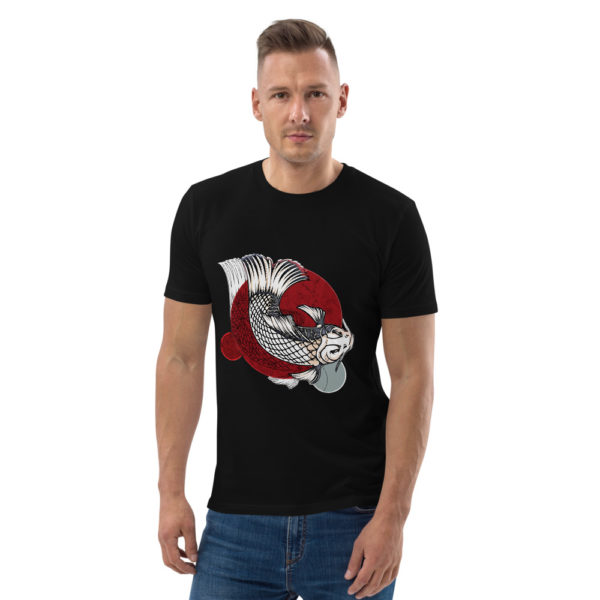 unisex organic cotton t shirt black front 614dd95d25827