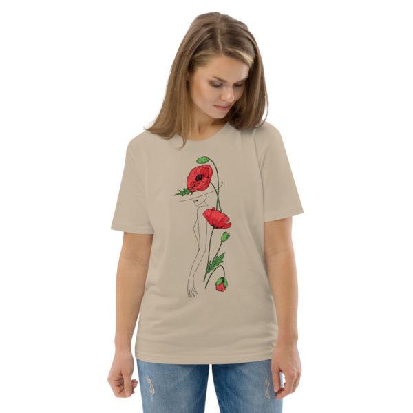 unisex organic cotton t shirt desert dust front 2 6144a2fac1ec2