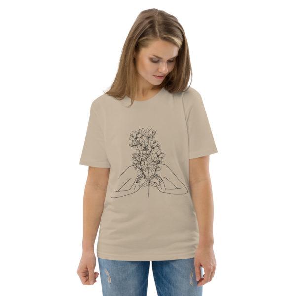 unisex organic cotton t shirt desert dust front 2 6144a54a04109