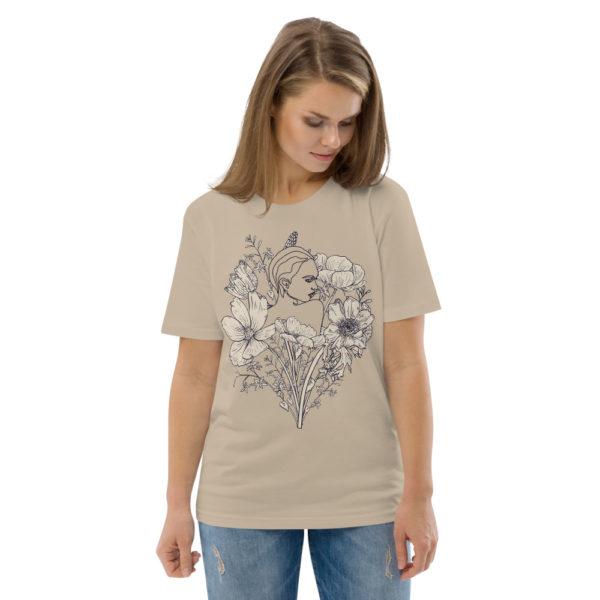 unisex organic cotton t shirt desert dust front 2 614dd07a35bdc