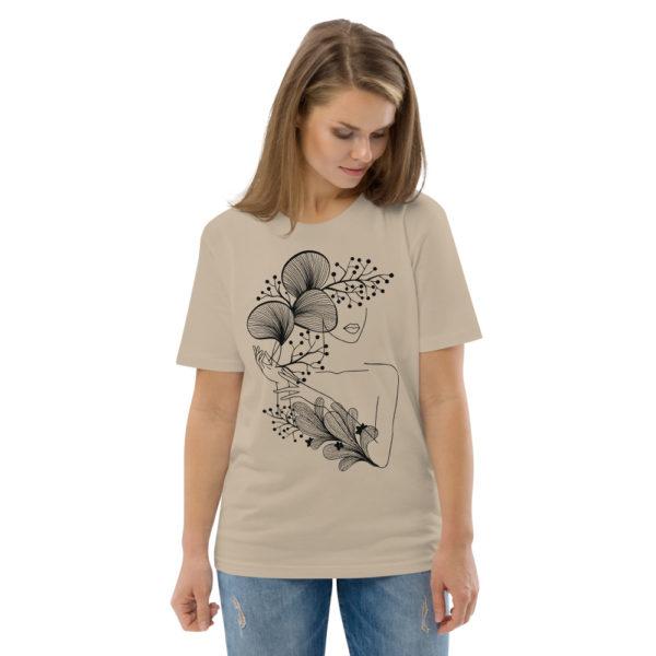 unisex organic cotton t shirt desert dust front 2 614dd21847474