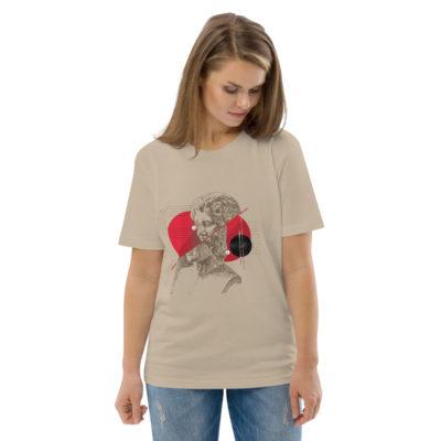 unisex organic cotton t shirt desert dust front 2 614dd49c807c0
