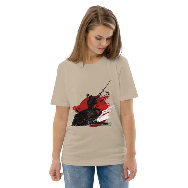 unisex organic cotton t shirt desert dust front 2 614dda9e1eb74