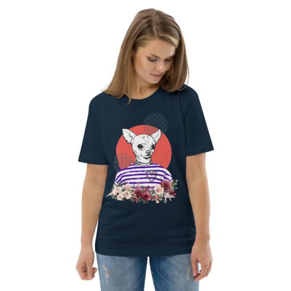 unisex organic cotton t shirt french navy front 2 614dd5d11b8a8