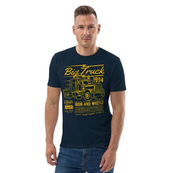unisex organic cotton t shirt french navy front 606491d55a7d7