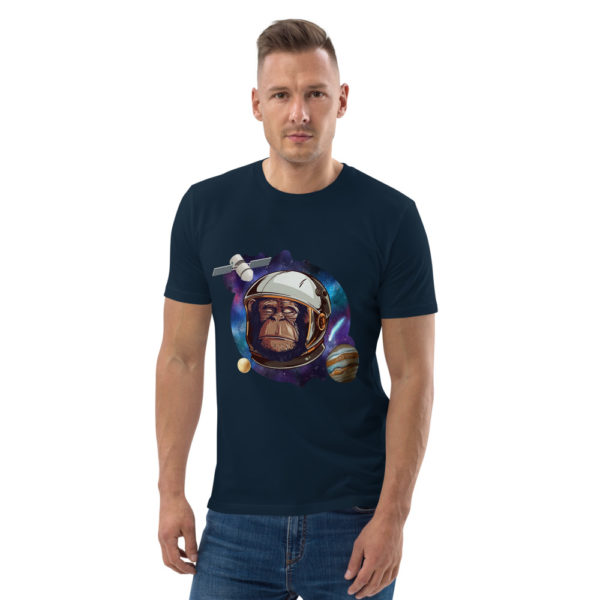 unisex organic cotton t shirt french navy front 614dd51369dfa
