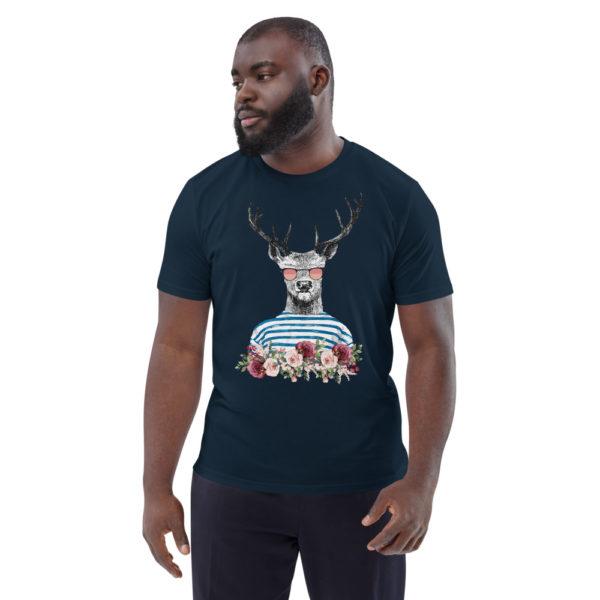 unisex organic cotton t shirt french navy front 614dd69898c13