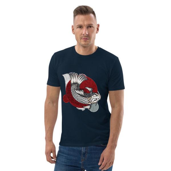 unisex organic cotton t shirt french navy front 614dd95d259e5