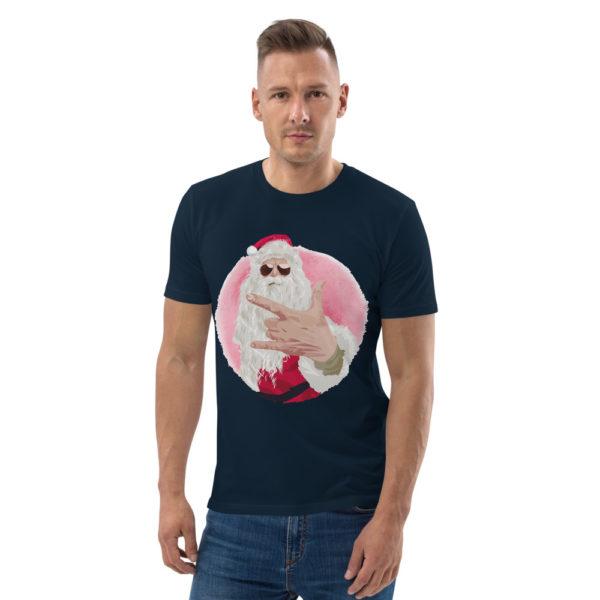 unisex organic cotton t shirt french navy front 614dda55e0a07