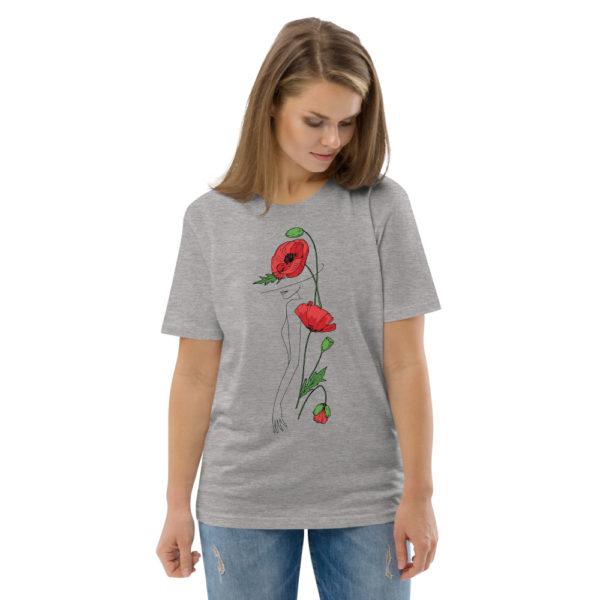 unisex organic cotton t shirt heather grey front 2 6144a2fac3153