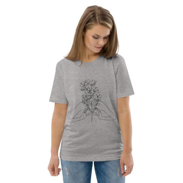 unisex organic cotton t shirt heather grey front 2 6144a54a04c4c