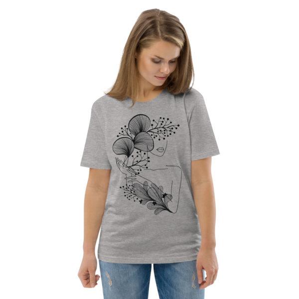 unisex organic cotton t shirt heather grey front 2 614dd218478ba