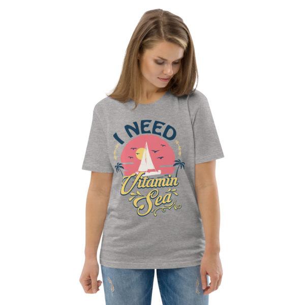 unisex organic cotton t shirt heather grey front 2 614dd3fb2e10c