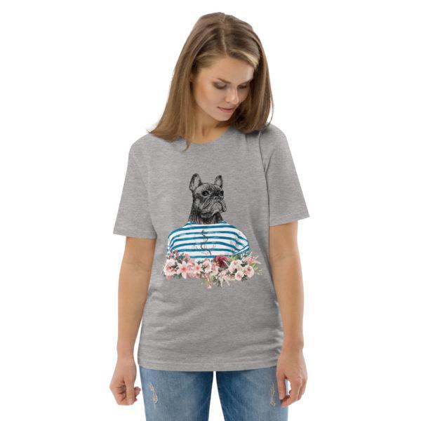 unisex organic cotton t shirt heather grey front 2 614dd6f4a6dc2