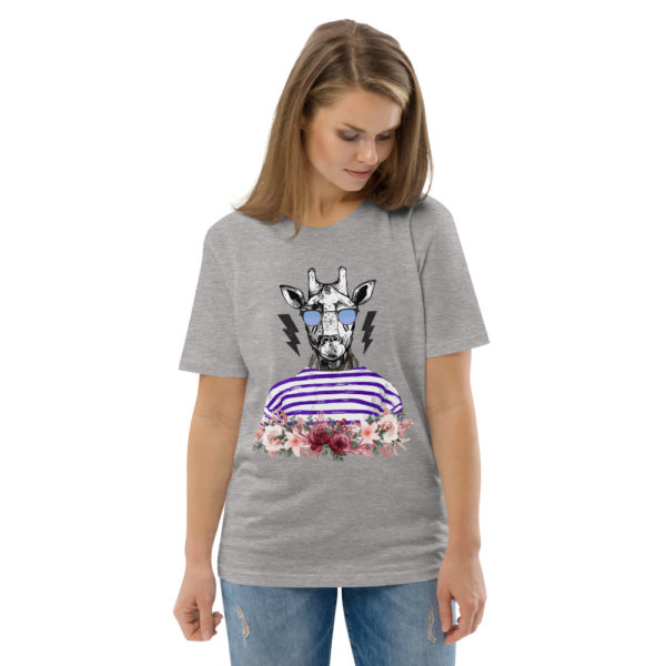 unisex organic cotton t shirt heather grey front 2 614dd76ac7086