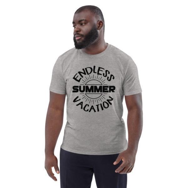 unisex organic cotton t shirt heather grey front 6144a35764ba0