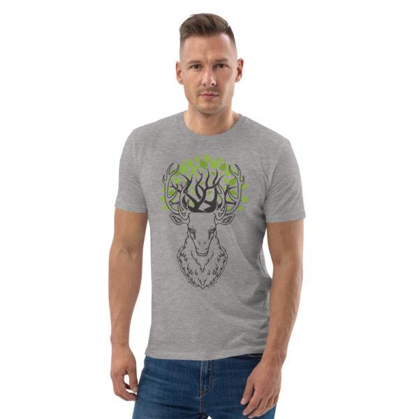 unisex organic cotton t shirt heather grey front 6144a3d72cbc9