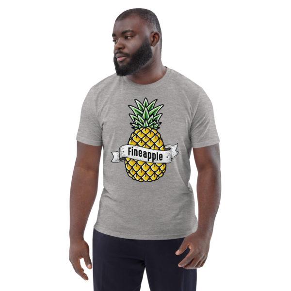 unisex organic cotton t shirt heather grey front 6144a5024a015