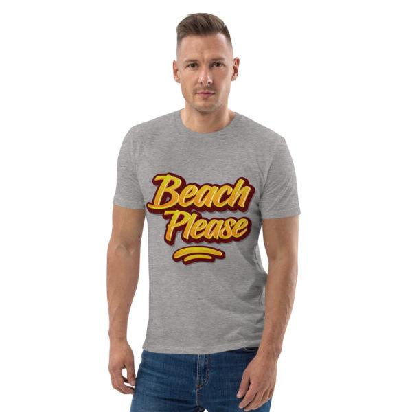 unisex organic cotton t shirt heather grey front 614dd0206bd04