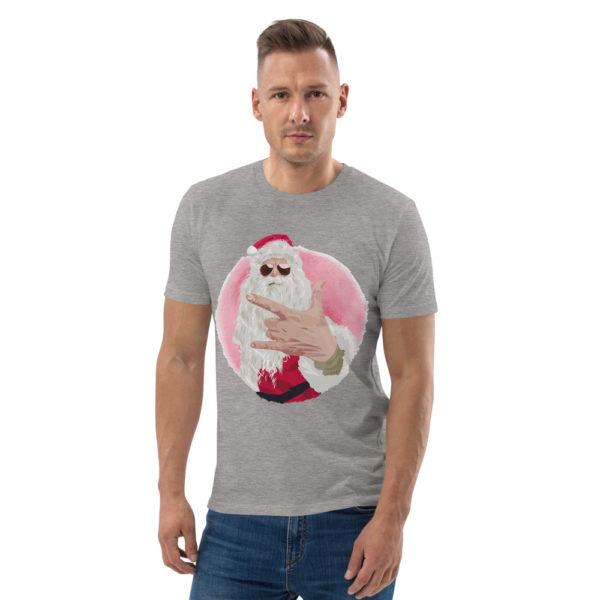 unisex organic cotton t shirt heather grey front 614dda55e2e88