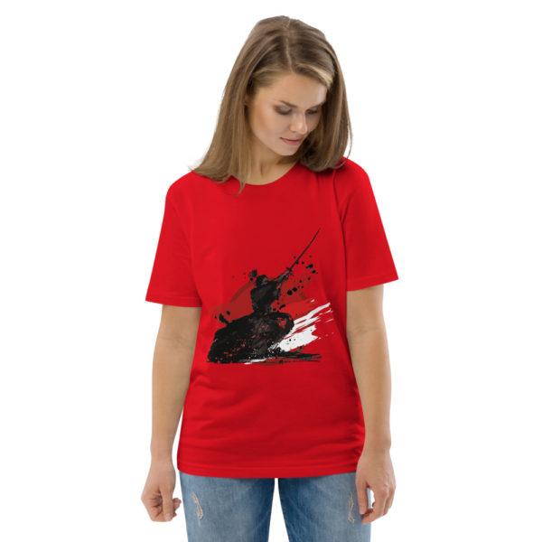 unisex organic cotton t shirt red front 2 614dda9e1e21e
