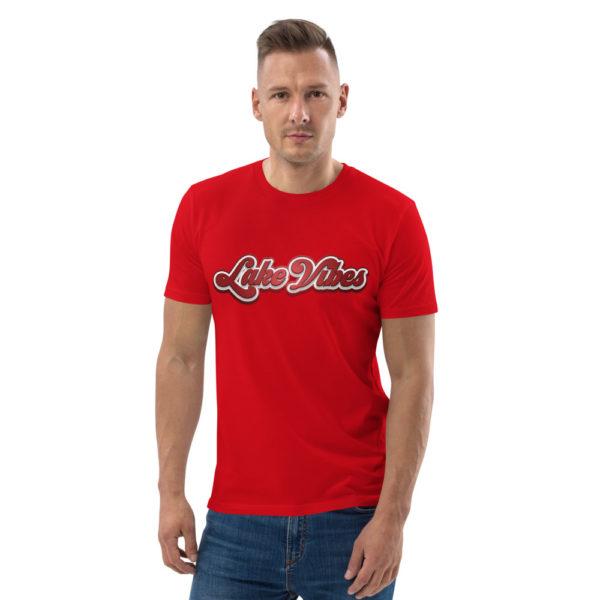unisex organic cotton t shirt red front 6144a64e626bd