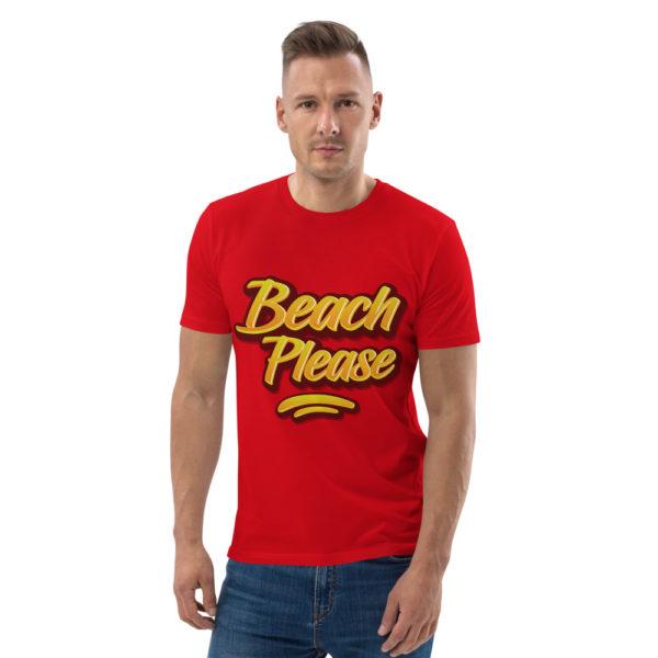 unisex organic cotton t shirt red front 614dd02069dc4