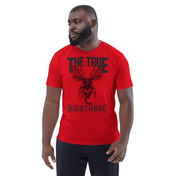 unisex organic cotton t shirt red front 614ddaf7d41a4