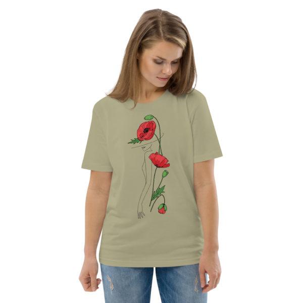 unisex organic cotton t shirt sage front 2 6144a2fac2c63