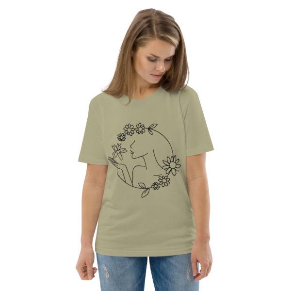 unisex organic cotton t shirt sage front 2 6144a43d2687f