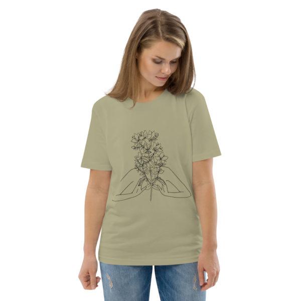 unisex organic cotton t shirt sage front 2 6144a54a04918