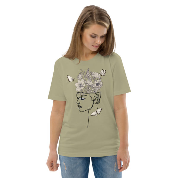 unisex organic cotton t shirt sage front 2 614dd0fd5bec1