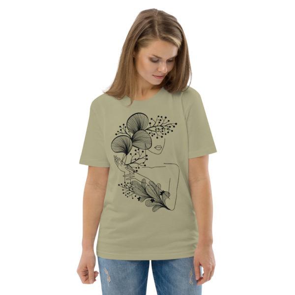 unisex organic cotton t shirt sage front 2 614dd218470e9