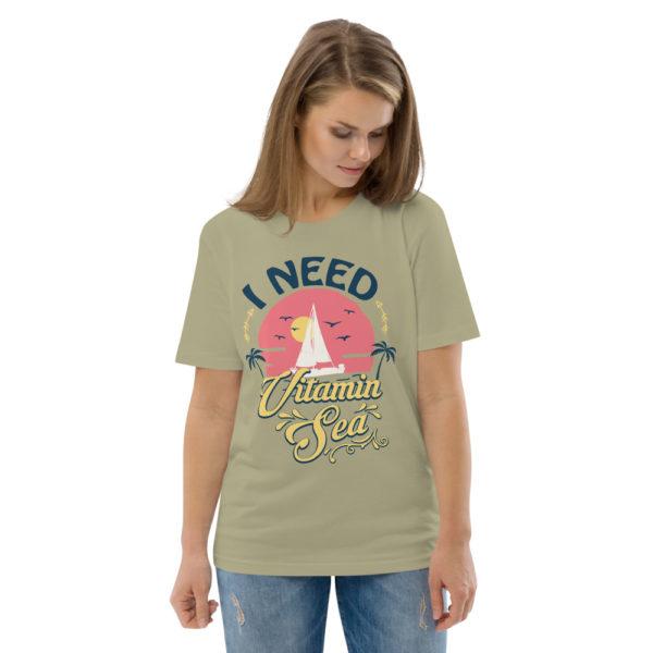 unisex organic cotton t shirt sage front 2 614dd3fb2d704
