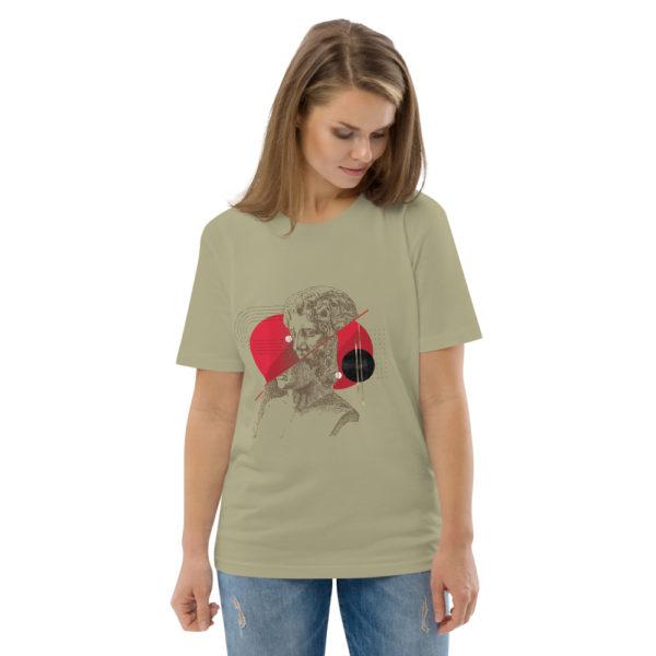 unisex organic cotton t shirt sage front 2 614dd49c80c23