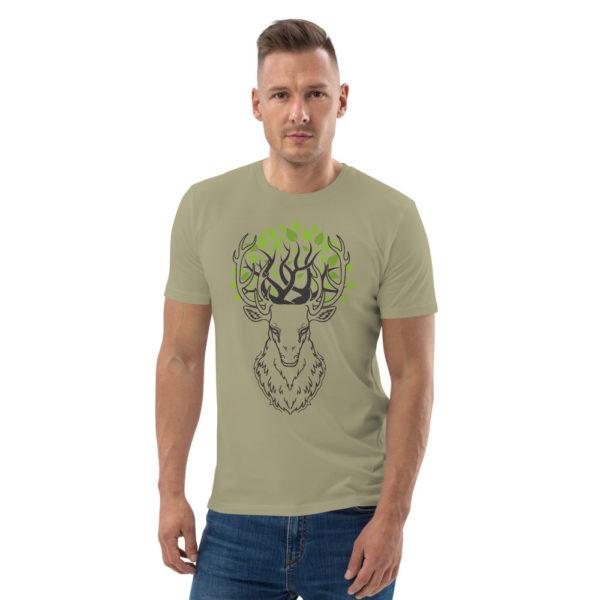 unisex organic cotton t shirt sage front 6144a3d72d2a1